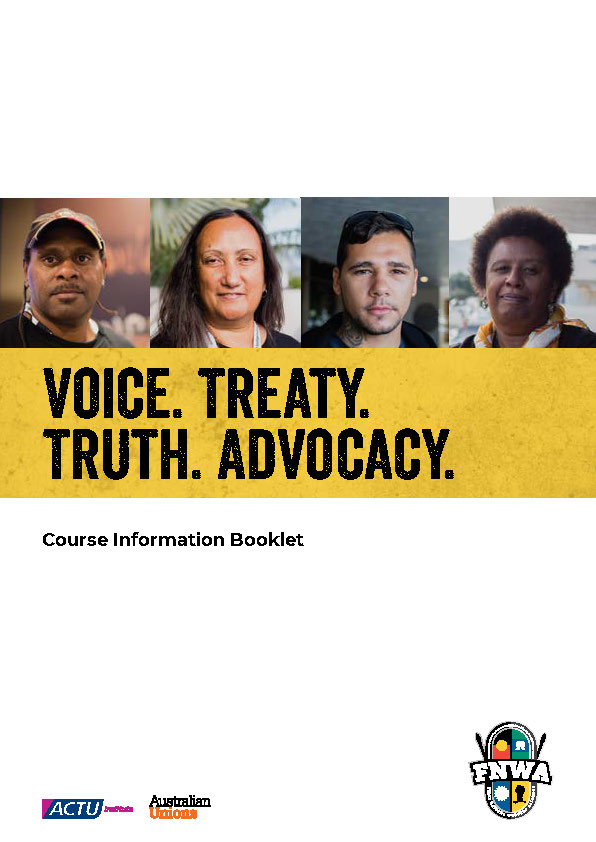 Voice Treaty Truth Advocacy Course Booklet